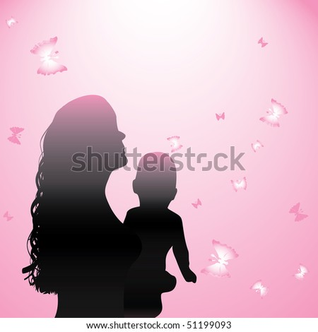 Mother and child. Vector illustration - stock vector