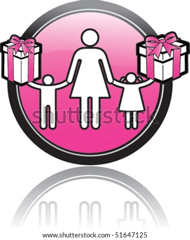 Mother and kids - stock vector