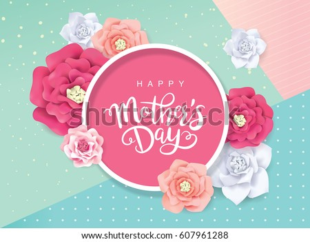 Mothers day greeting card blossom flowers stock vector 607961288 mothers day greeting card with blossom flowers m4hsunfo