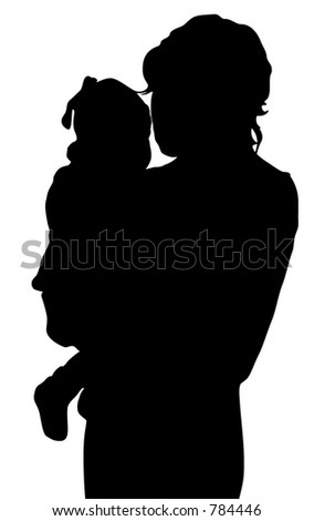 Mother with baby - stock vector