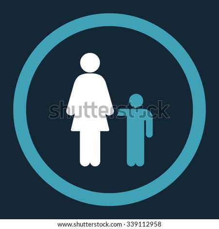 Mother Son Vector Icon Style Bicolor Stock Vector 339112958