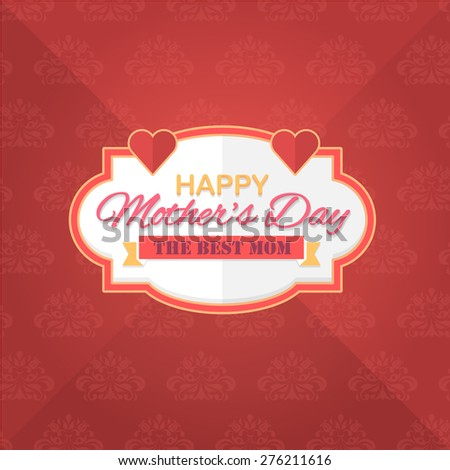 Mothers Day Flat Celebration Card, Background, Announcement and Celebration Message Poster, Flyer Design  - stock vector