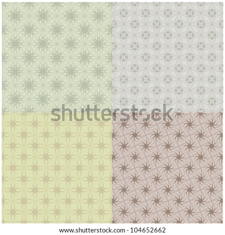 motif background vector set - stock vector