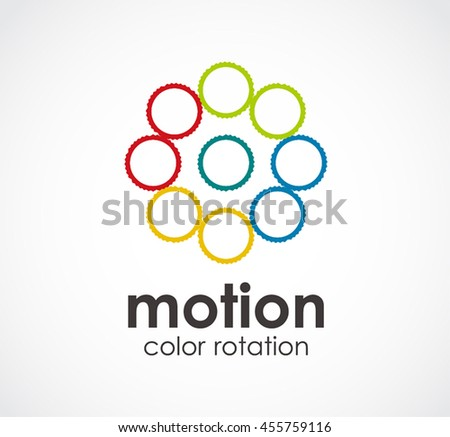 Motion of color rotation abstract vector and logo design or template circle business icon of company identity symbol concept - stock vector