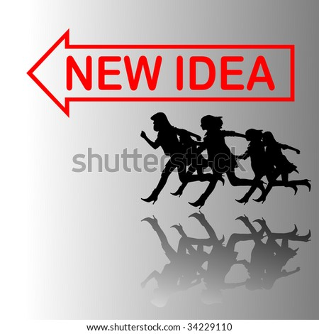 motion of people toward success - stock vector