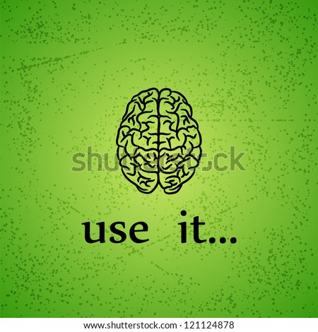 Motivation background with human brain and text
