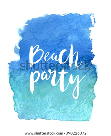 """Motivation poster """"Beach party"""" Abstract background - stock vector"""