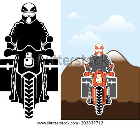 Moto Travel vector - stock vector