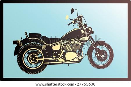 Motor-bike - stock vector