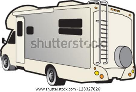 motor home illustration - stock vector