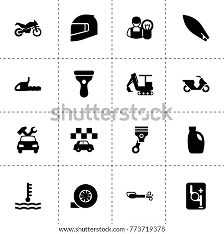 Motor Icons Vector Collection Filled Motor Stock Vector 773719378 ...