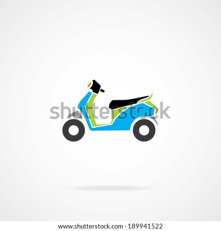 Motor Scooter. eps-10. - stock vector