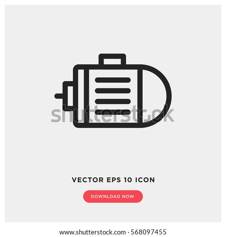 Motor Vector Icon Engine Symbol Modern Stock-Vektorgrafik 568097455 ...