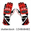 Motorcycle gloves - stock vector