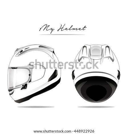 Motorcycle helmet isolated vector image.