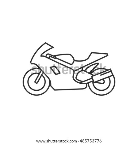 Motorcycle outline Vector