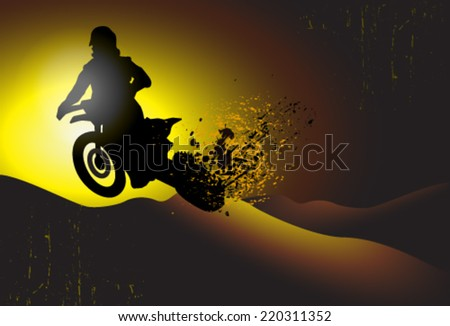 motorcycle, motocross background - stock vector