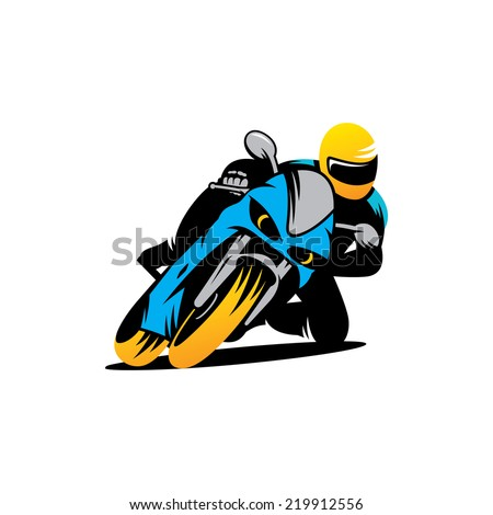 Motorcycle races Branding Identity Corporate vector logo design template Isolated on a white background - stock vector