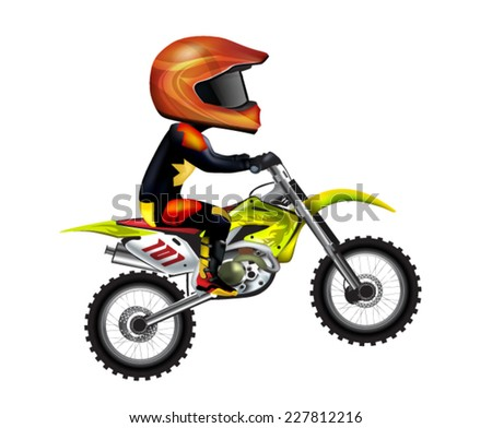 Motorcycle Rider - stock vector