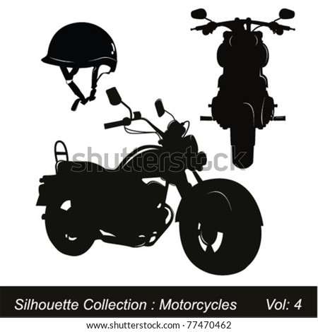 Motorcycle silhouette - stock vector