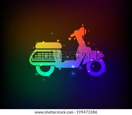 Motorcycle symbol,Rainbow vector - stock vector