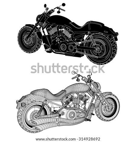 Motorcycle Vector 17 - stock vector