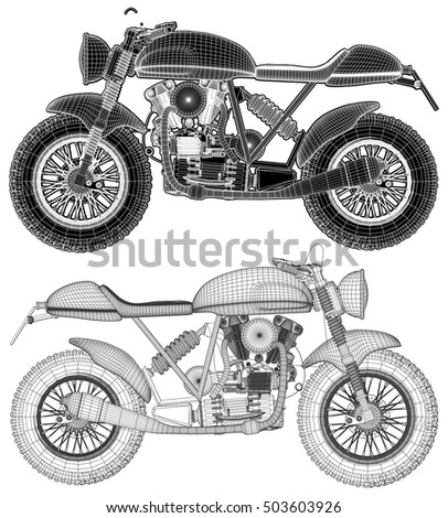 Motorcycle Vector 19