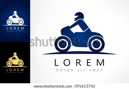 Motorcycle vector. Bike symbol. - stock vector