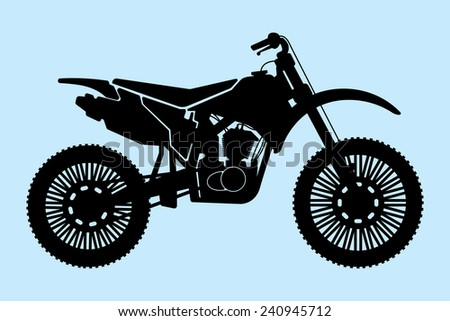 Motorcycle vector illustration - stock vector