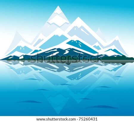 mountain - stock vector