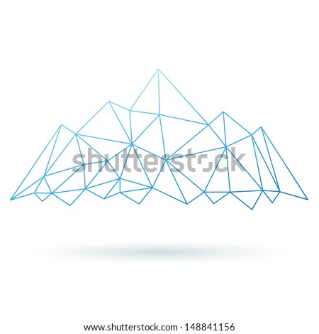 Mountain abstract isolated on a white backgrounds. Vector illustration - stock vector