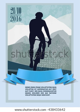 Mountain Bike cyclist riding single track . workout - stock vector