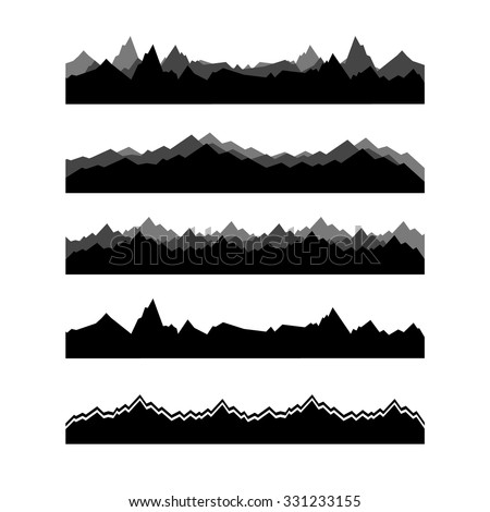 1847+ Layered Mountain Svg – SVG,PNG,EPS & DXF File Include