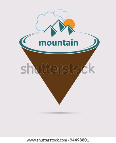 Mountain stylized vector format - stock vector