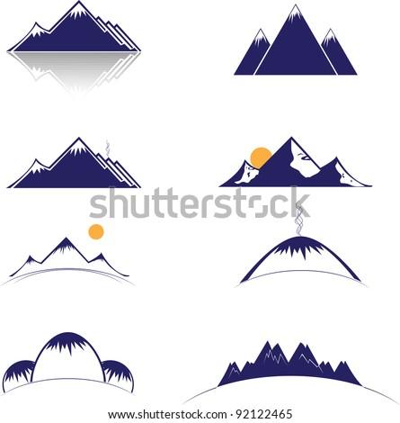 mountain vector format - stock vector