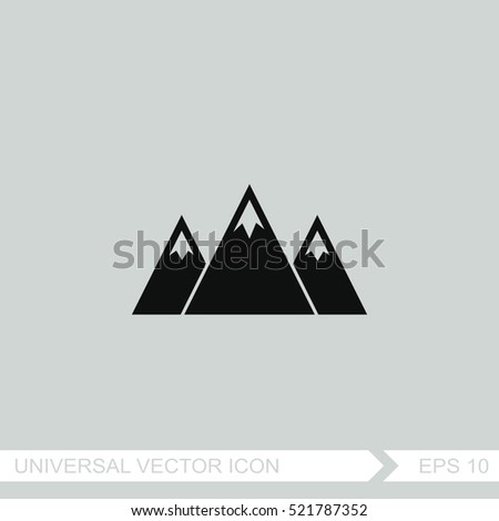 mountain symbol stock images royalty free images. Black Bedroom Furniture Sets. Home Design Ideas