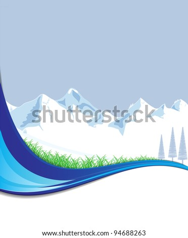 Mountain with place for text vector format - stock vector