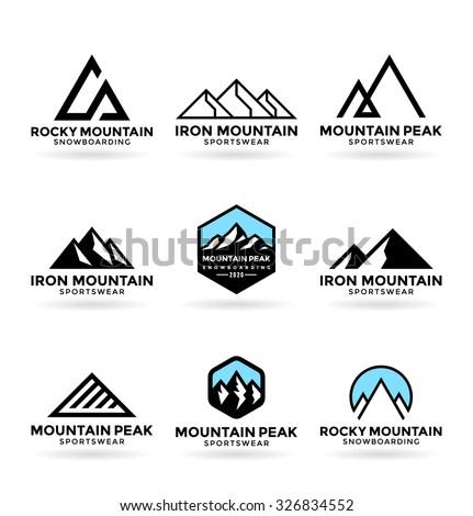 Mountains (9) - stock vector
