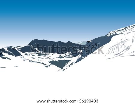 mountains - stock vector