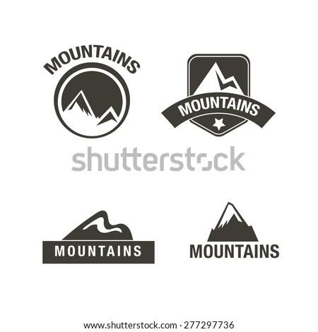 Mountains logo, Vector logo design - stock vector