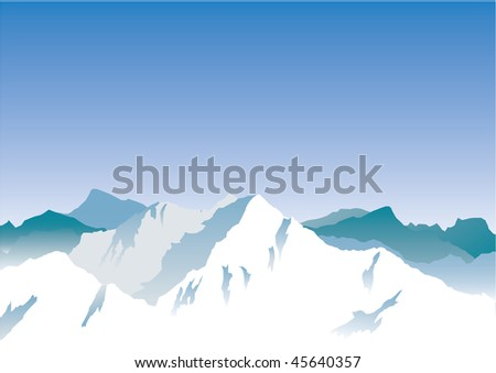 Mountains. Set. Vector illustration - stock vector