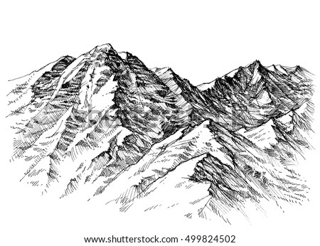 Mountain sketch stock images royalty free images vectors mountains sketch mountains ranges hand drawing sciox Gallery
