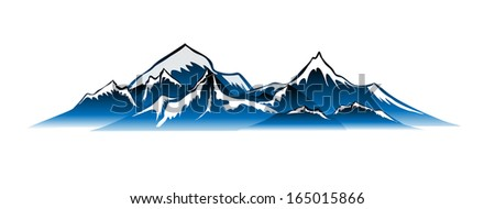 mountains Vector  - stock vector