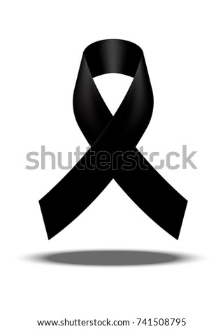 Mourning Symbol Rip Funeral Card Black Stock Vector 741508795