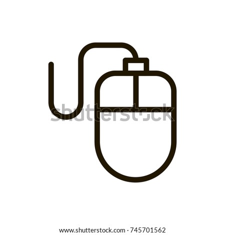 Mouse Flat Icon Single High Quality Stock Vector 745701562