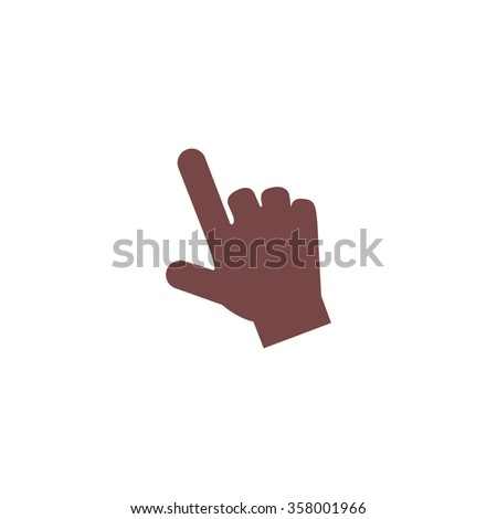 Mouse hand cursor. Colorful vector icon. Simple retro color modern illustration pictogram. Collection concept symbol for infographic project and logo - stock vector
