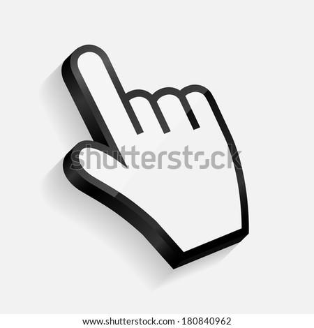Mouse hand cursor vector illustration - stock vector