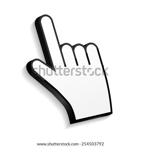 Mouse Hand Cursor Vector Illustration EPS10 - stock vector