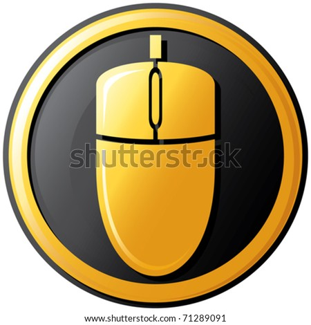 mouse icon (button) - stock vector