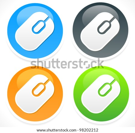 Mouse Icon - Mouse Vector Icon - stock vector